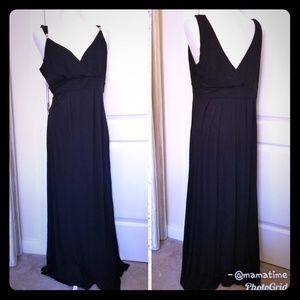 Jennifer Lopez size XL black maxi dress sundress